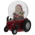Santa Riding A Tractor Snow Globe