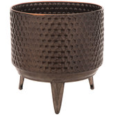 Honeycomb Metal Flower Pot With Stand
