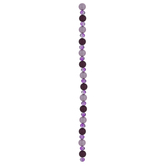 Purple Dyed Bead Strand