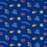Kansas Allover Collegiate Cotton Fabric