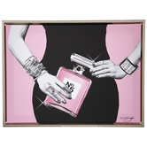 Woman & Perfume Canvas Wall Decor