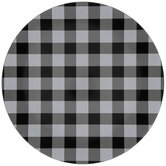 Black & White Buffalo Check Plate Charger