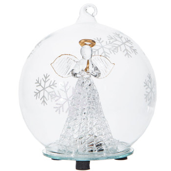Angel LED Ornament With Snowflakes