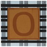 Plaid & Leather Letter Wood Wall Decor - O