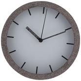 Multi-Color Round Glitter Wood Clock