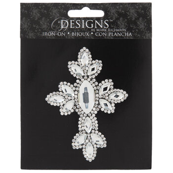 Rhinestone Cross Iron-On Applique