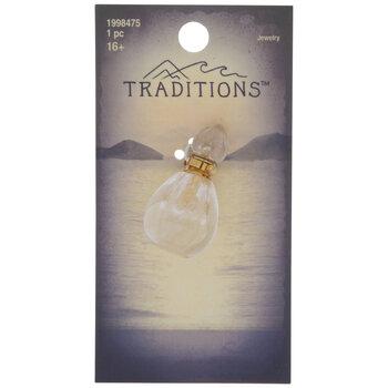 Quartz Perfume Bottle Pendant