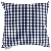 Navy & White Buffalo Check Pillow
