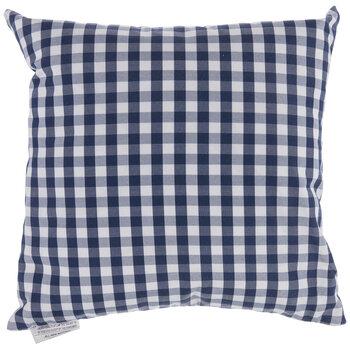 Navy & White Buffalo Check Pillow