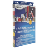 Flat Enamel Finishing Paint & Tools