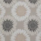 Beige & Gray Daisy Outdoor Fabric
