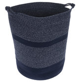 Blue Striped Laundry Hamper