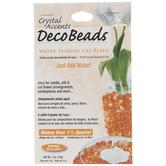 Orange Crystal Accents Deco Beads