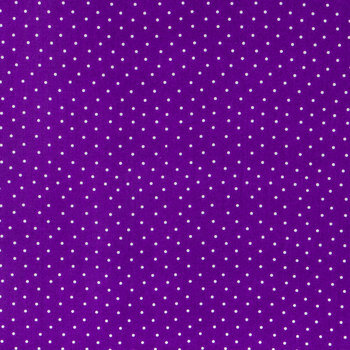 Purple & White Polka Dot Cotton Calico Fabric