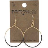 10K Gold Plated Flat Hoop Earrings