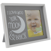"I Love You To The Moon Wood Frame - 5"" x 7"""