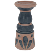 Navy Terra Cotta Candle Holder - Small