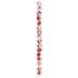 Red Flower Blossom Glass Bead Strand