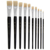 Flat Paint Brushes - 10 Piece Set