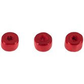 Red Round Wood Beads - 6mm x 9mm