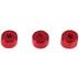 Red Round Wood Beads - 6mm x 9mm