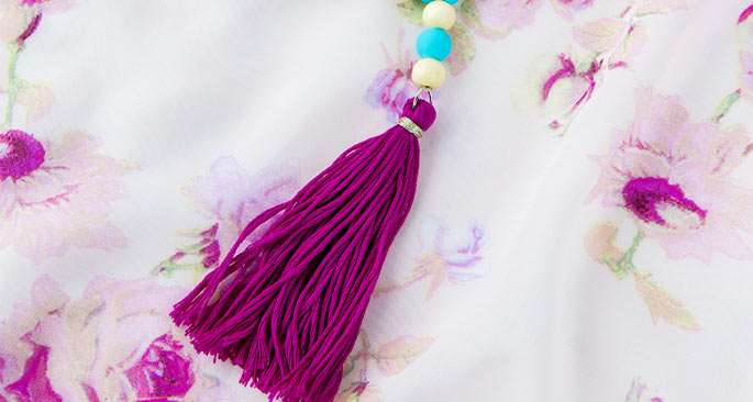 Beaded Tassel Necklace: As It Strands