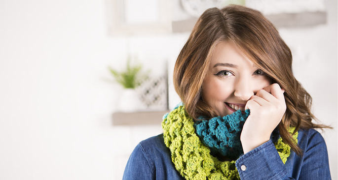 Knit & Crochet Scarf Patterns: On a Roll