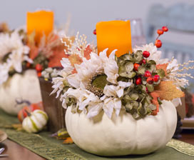 A Thankful Table: Faux Pumpkin Centerpiece