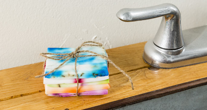 How To Tie-Dye Soap: The Bright Side