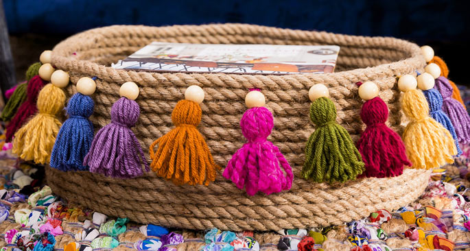 No-Sew Rope Basket: Jute Gets Cozy
