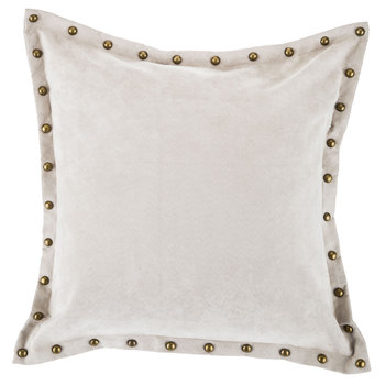 Studded Gray Velvet Pillow Cover- ! JUST THE COVER!