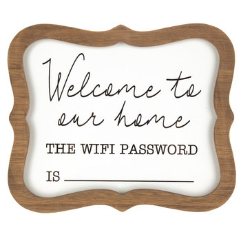 Wifi Password Wood Decor- Only .00!