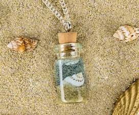 Ocean-in-a-Bottle Necklace