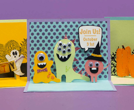 DIY Pop-Up Card - Halloween Party Invite