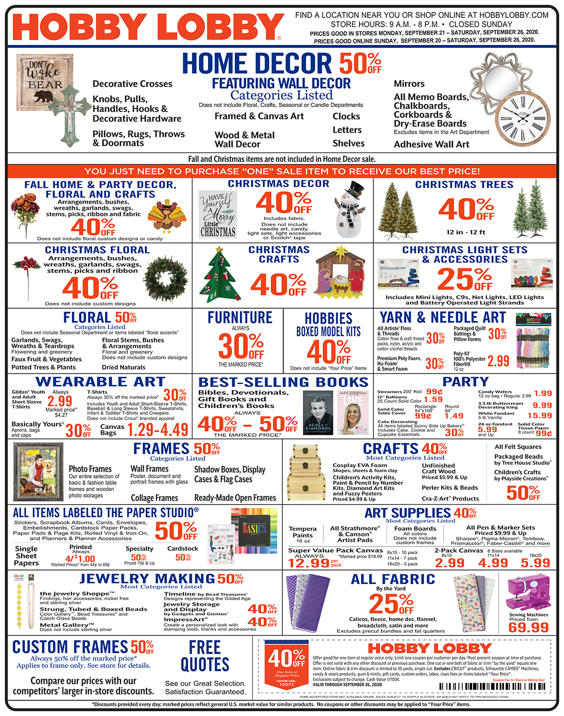 40 Off After Christmas 2020 Weekly Ad & Coupon