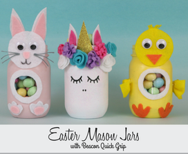 DIY Easter Bunny Candy Jar with Quick Grip