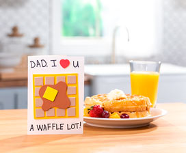 Father's Day Waffle Card