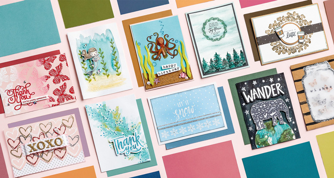 Stamped & Embossed Cards