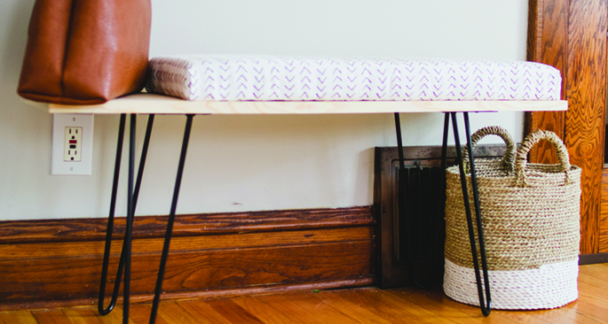 DIY Upholstered Bench Tutorial