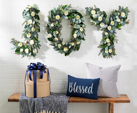 Floral Garland Letters