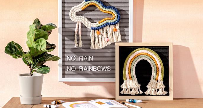 Rainbow Ribbon Rope Wall Hanging