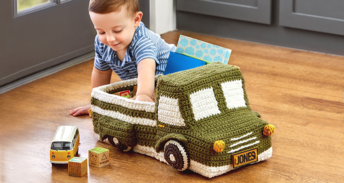 Crocheted Truck Basket
