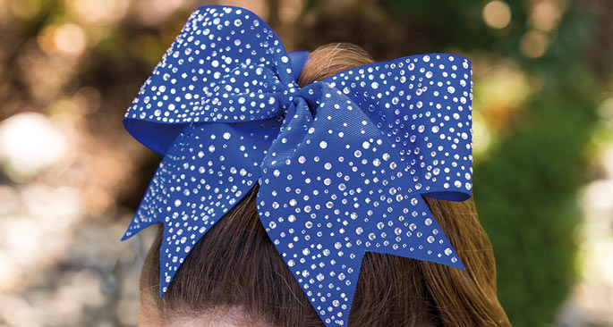 Rhinestone Bling Bows: Hair Bow Happiness