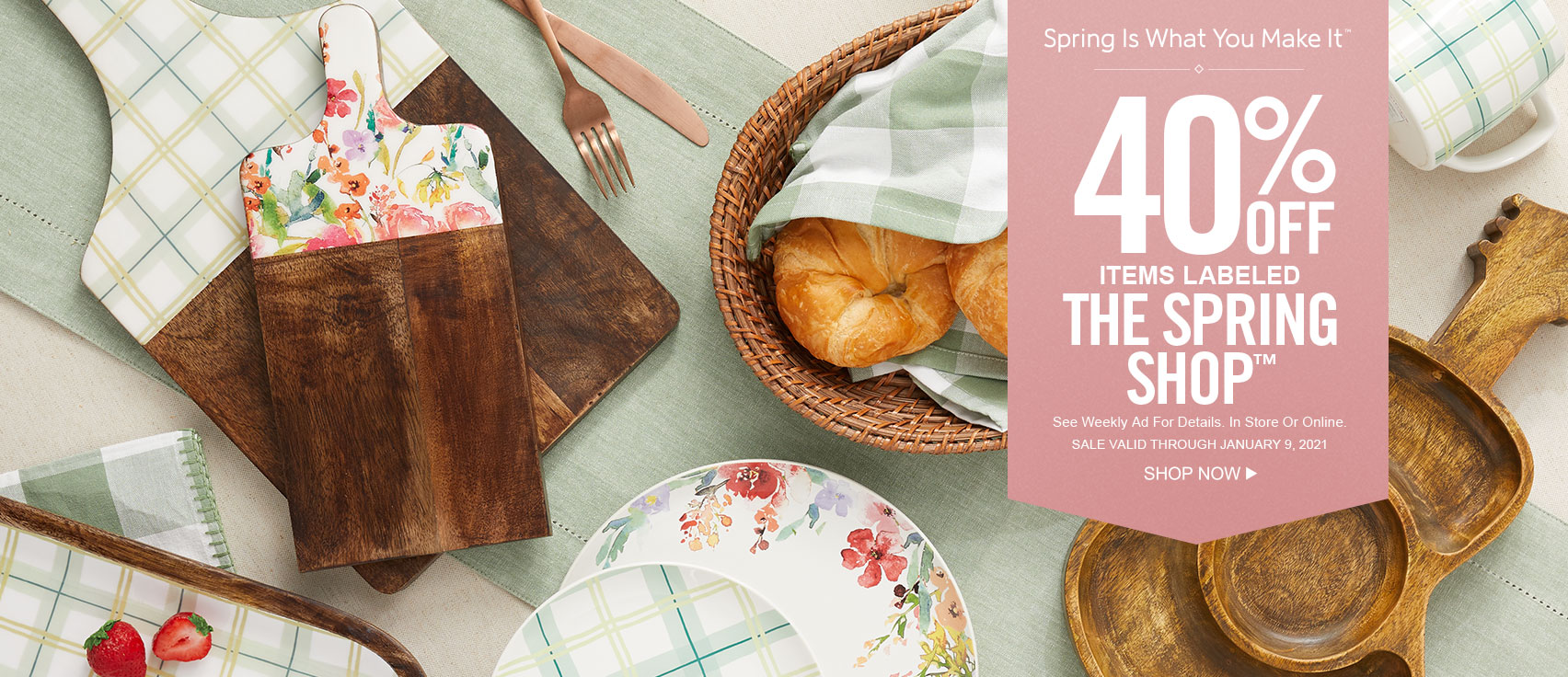40% Off Items Labeled The Spring Shop at Hobby Lobby!