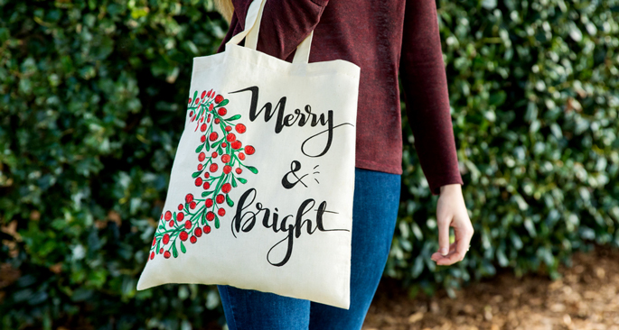 Custom Christmas Tote