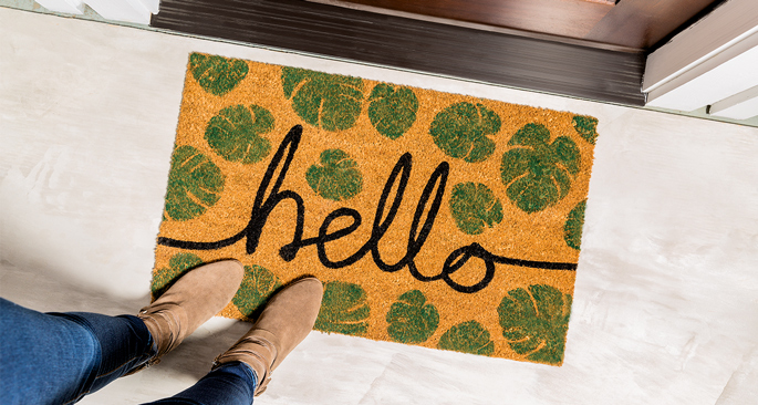 Embellished Doormat