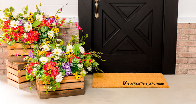 Outdoor-Ready Faux Floral Arrangement