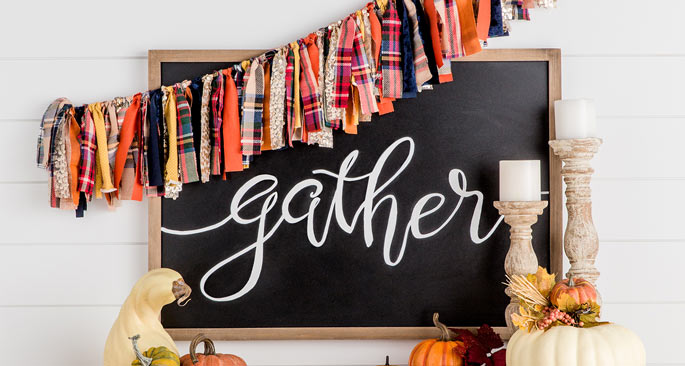 No-Sew Fall Banner