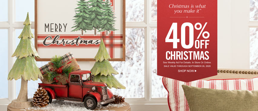 40% off Christmas - Valid Through September 26th