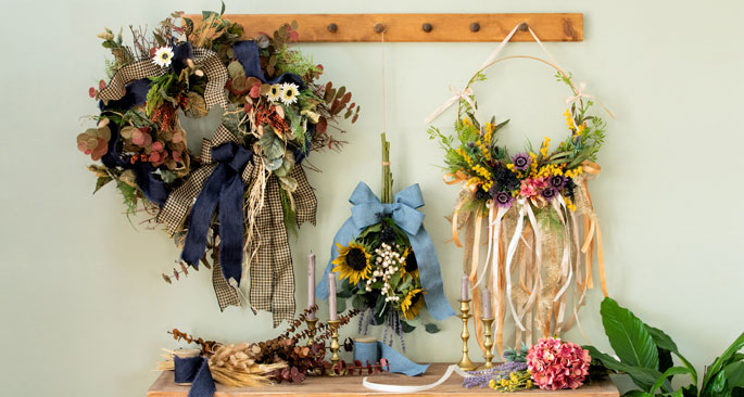 Floral Ribbon Wreaths